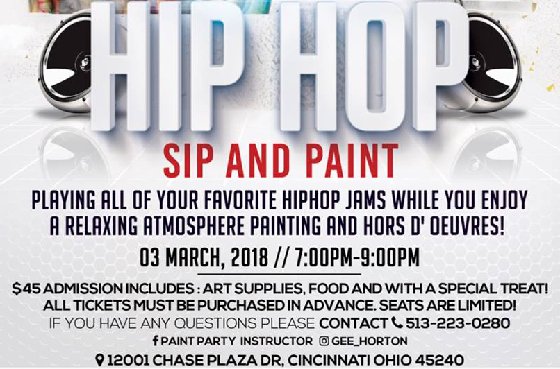 Hip Hop Sip and Paint